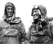 Hilary and Tenzing Norgay after scaling Everest