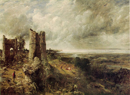 Hadleigh Castle ruins and sea