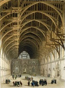 Hammerbeam roof at Westminster