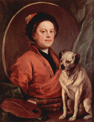 Hogarth's portrait of himself