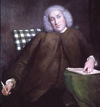Dr Johnson writing