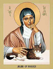 Julian of Norwich with her cat