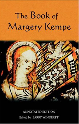 Cover of Margery Kempe's book with image of Margery