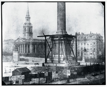 Talbot's photo of Nelson's Column 1843