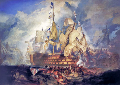 HMS Victory at the Battle of Trafalgara