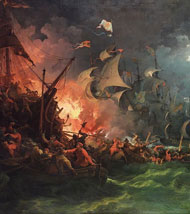 Battle with Spanish Armada