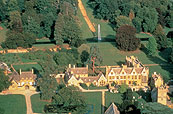 Aerial view of manor house