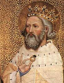 Edward the Confessor holds coronation ring