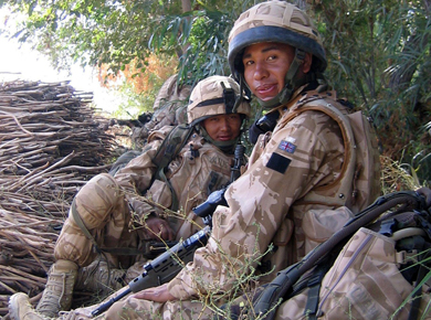 Two Gurkha soldiers
