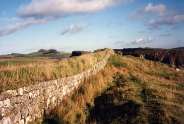 Part of Hadrian's Wall in the north of England