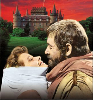 Movie cover for the Lion in Winter shows Eleanor and Henry II passionately and warily embracing
