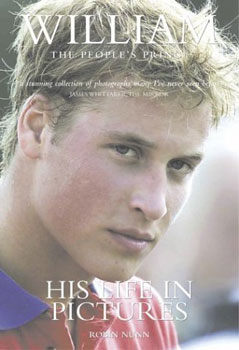 Cover of book about Prince William, showing William just after exercising