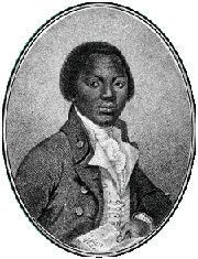 Etching of Equiano, a slave who freed himself and wrote his autobiography