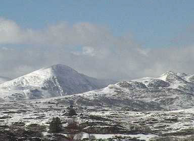 Snowy mountains of Wales