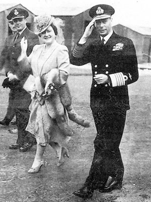 George VI and the Queen