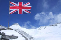 Union flag on Everest