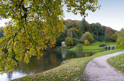 Stourhead in autumn