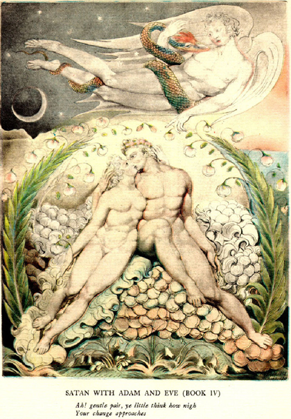 William Blake's Adam and Eve