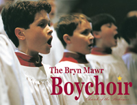 Boys choir in red and white robes